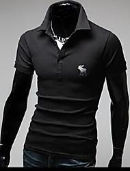 economico -personalizzato casuale collare fit supporto T-shirt di Jason