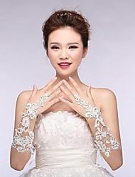 Ellenbogen Länge Ohne Finger Handschuh Brauthandschuhe Applikationen