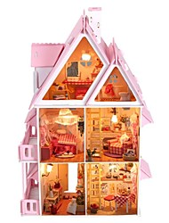 cheap -Large Dream Villa DIY Wood Dollhouse Including All Furniture