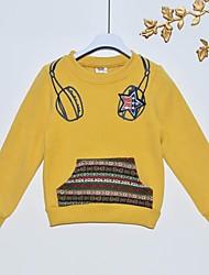 baratos -Moleton & Blusa de Frio Inverno Primavera Outono Algodão Manga Longa Amarelo Vermelho