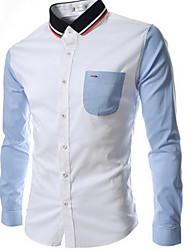 Neformalan Ležerne košulje - MEN - Kragna košulje - Dugi rukav ( Pamuk Blend )