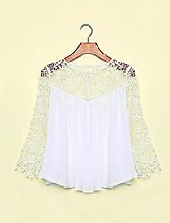 preiswerte -samantha Damenmode Chiffon Spitze verursachendes Hemd