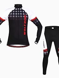 povoljno -wolfbike muške jesen zima mountain bike prozračna dugih rukava biciklizam odijelo - crno