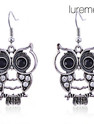 Dámské Visací náušnice luxusní šperky bižuterie Umělé diamanty Slitina Animal Shape Sova Šperky Pro Denní