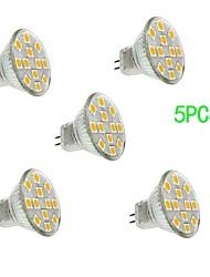 billige -3 W- MR11 - GU4 - Spotlamper (Warm White , Dekorativ) 300 lm- DC 12 V- 5 stk