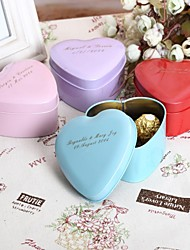 cheap -Round Square Heart Metal Favor Holder with Printing Favor Boxes Favor Tins and Pails - 24
