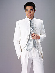 cheap -White Polyester Slim Fit Two-Piece Tuxedo