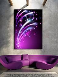 preiswerte -E-Home® gestreckt geführt Leinwanddruck Kunst der leuchtende Stern Flash-Effekt geleitet