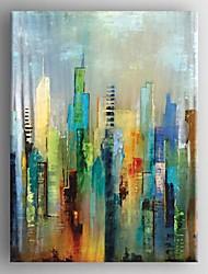 abordables -Pintada a mano Abstracto Vertical,Modern Estilo europeo Un Panel Lienzos Pintura al óleo pintada a colgar For Decoración hogareña
