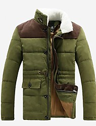 cheap -Men's Casual/Daily Coat - Solid Colored, Modern Style