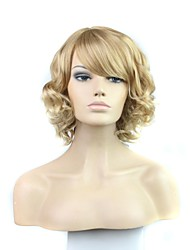 cheap -Women Synthetic Wig Curly Blonde With Bangs Halloween Wig Carnival Wig Costume Wig