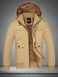 Недорогие -langxin мужская мода случайные теплая куртка