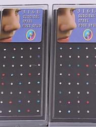 economico -Da donna Gioielli per corpo Piercing naso Piercing al naso Originale Europeo bigiotteria Di tendenza Acciaio inossidabile Gioielli