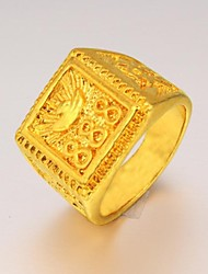 Good Luck Constantly Male Domineering 24 K Gold Ring Christmas Gifts