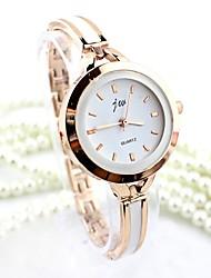 Недорогие -Жен. Часы-браслет Имитация Алмазный сплав Группа Мода / Кольцеобразный Серебристый металл / Золотистый