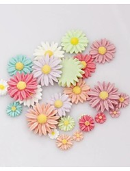 cheap -10PCS Resin Marguerite Flatback Buttons DIY Scrapbooking Appliques Mixs Color