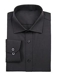camicia classica / semi-diffusa lunga manica lunga cotone camicia nera per i vestiti