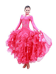 Danse de Salon Robes Femme Spectacle Entraînement Coton mercerisé Manche longue