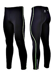 cheap -WOLFBIKE Men's Running Tights Bike Tights Spandex Green / Blue Bike Wear / High Elasticity / Polyester / Reflective Strips