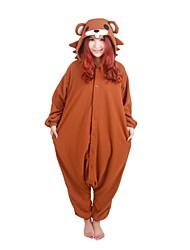 Kigurumi Pajamas Bear Raccoon Leotard/Onesie Festival/Holiday Animal Sleepwear Halloween Solid Polar Fleece Kigurumi For UnisexHalloween