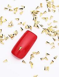 cheap -500PCS 3D Gold Nail Art Jewelry Alloy Slice Golden Stud Shining Plane Rivet for Nail Design and Fake Nails