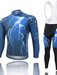 cheap -West biking Cycling Jersey with Bib Tights Men's Long Sleeves Bike Bib Tights Jersey Clothing Suits Quick Dry Anatomic Design Breathable