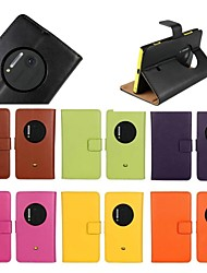Super Genuine Leather Case Stand Flip for Nokia Lumia 1020 (Assorted Colors)
