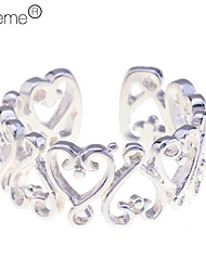 cheap -Lureme®925 Sterling Silver Plated Hollow Little Heart Open Ring