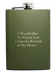 cheap -Personalized Gift Green 8oz Stainless Steel Hip Flask