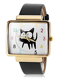 cheap -Women's Quartz Wrist Watch Hot Sale PU Band Charm Fashion Black White Red Brown