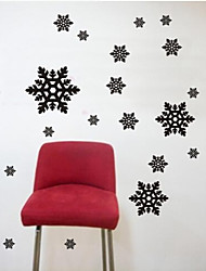 adesivos de parede adesivos de parede, floco de neve contemporânea parede pvc adesivos