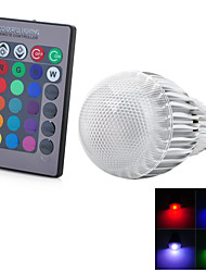 cheap -E26/E27 LED Globe Bulbs 1 LEDs Integrate LED Remote-Controlled Cold White RGB Red Blue Yellow Green Purple Violet Orange 300-500 AC