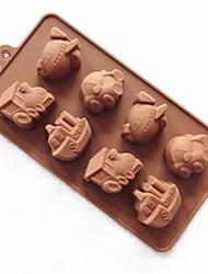 8 Hole Vehicle Shape Cake Mold Ice Jelly Chocolate Mold,Silicone 23×12×2.5 CM(9×4.7×1 INCH)