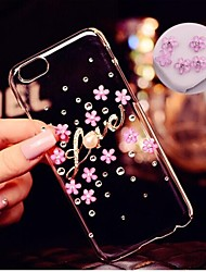 cheap -Case For Apple iPhone 6 Plus / iPhone 6 Rhinestone / Transparent Back Cover Flower Hard PC for iPhone 6s Plus / iPhone 6s / iPhone 6 Plus