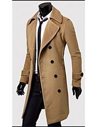 mildness Men's V-Neck Coats & Jackets , Cotton Blend Long Sleeve Casual Pocket Winter