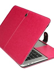 "cheap -Case for Macbook Air 13.3"" Solid Color Genuine Leather Material Business Solid Color Newest Leather Foldable Case"