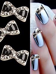 Conception strass 10pcs de papillon 3d alliage nail art ongles bricolage beauté décoration des ongles