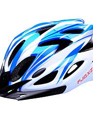 fjqxz 18 Belüftungsöffnungen eps + pc blau und weiß integral geformten Fahrradhelm (56-63cm)