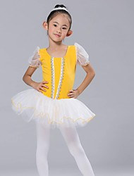 cheap -Kids' Dancewear Tops Dresses&Skirts Tutus Children's Chiffon Spandex Short Sleeve