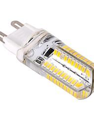 Недорогие -ywxlight® g9 привело кукурузные огни 80 светодиодов smd 3014 с регулируемой яркостью теплый белый холодный белый 400lm 2800-3200k ac 220-240v