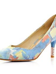 cheap -Women's Shoes Fabric Spring / Summer / Fall Stiletto Heel Pink / Blue / Dress