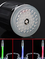 cheap -LED Color Changing Water Tap Glow LED Shower Stream Bathroom Faucet with adaptor