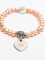 cheap -Personalized Gift Cultured Pearls Bracelet