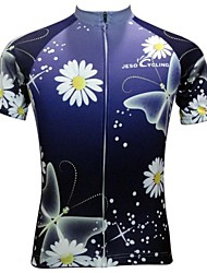 JESOCYCLING Cycling Jersey Women's Short Sleeves Bike Jersey Tops Quick Dry Breathable Anti-skidding/Non-Skid/Antiskid Polyester