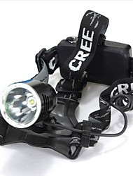 cheap -Headlamps LED Mode 1600 Lumens Waterproof / Rechargeable / Impact Resistant / Strike Bezel / Tactical / Emergency Cree XM-L T6 18650