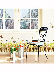 Wall Stickers Wall Decals, Style Plant Flowers PVC Wall Stickers