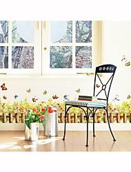decalques de parede adesivos de parede, planta flores do estilo de parede pvc adesivos