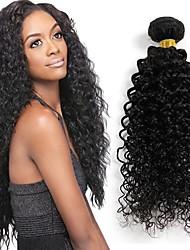 24inches brasileira encaracolado cabelo virgem não transformados brasileiro crespo encaracolado virgem naturl cabelo preto 1pcs / lot