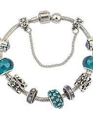 cheap -Women's Charm Bracelet - Rhinestone Unique Design, European, Fashion Bracelet Silver-Blue For Christmas Gifts
