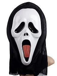 Недорогие -наклеивания язык призрак маску с крышки головки кричать Розыгрыш страшные косплей гаджеты для Хэллоуина костюм участника
